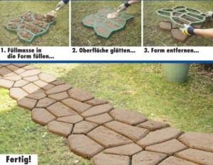 natursteine selber machen mit dem naturstein-pflasterergarten pflanzen, Garten dekoo