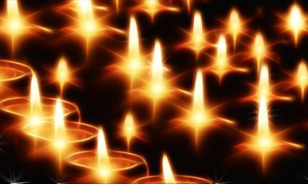 Kerzen geben schönes Licht