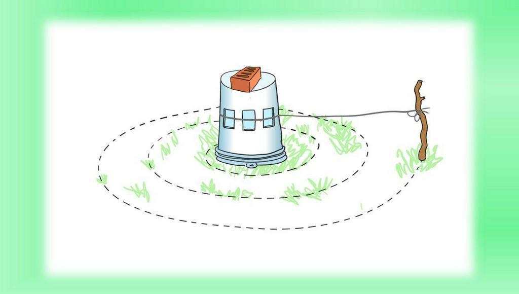 Kräuterspirale Grundriss