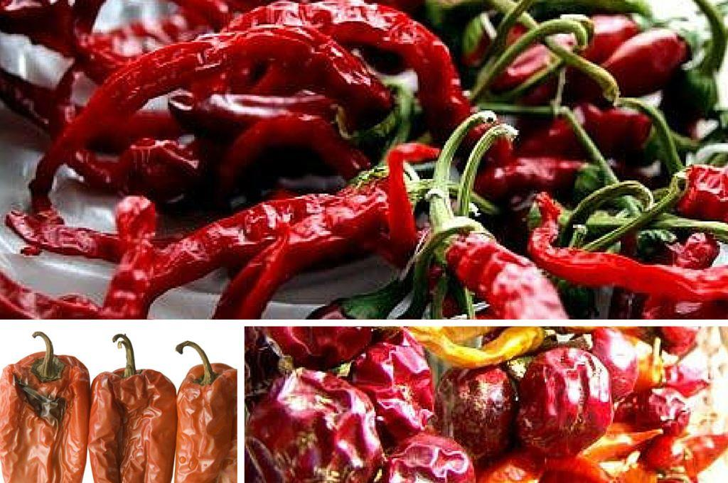 Paprika und Chili getrocknet