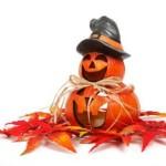 Halloween Dekoration mit Kürbis