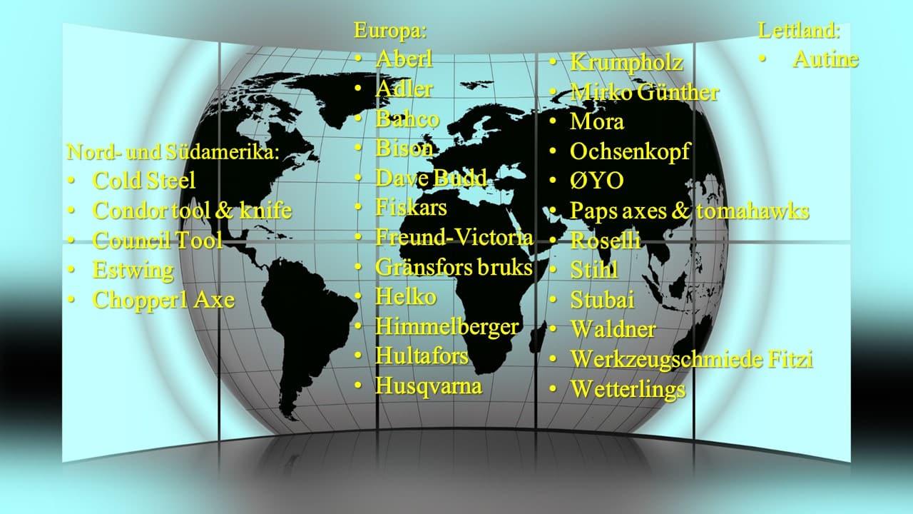 Hersteller weltweit