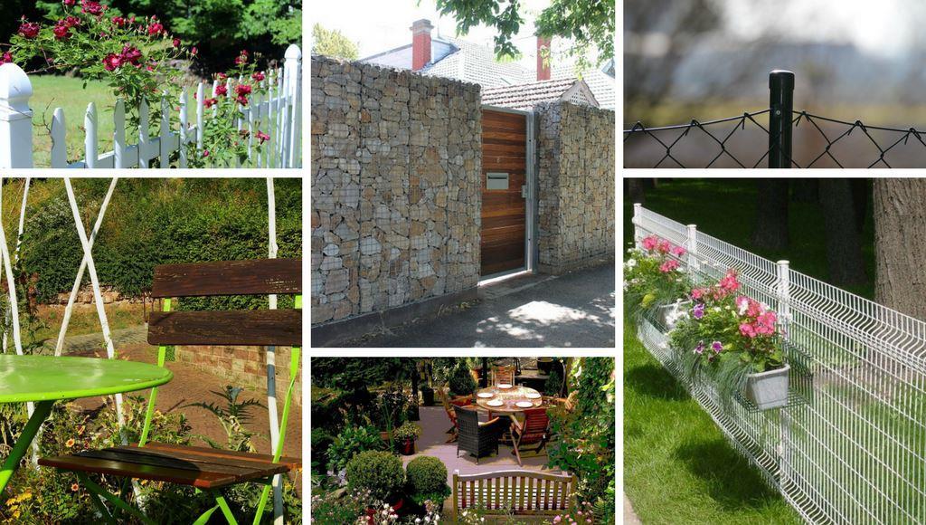 Möbel und Zaun