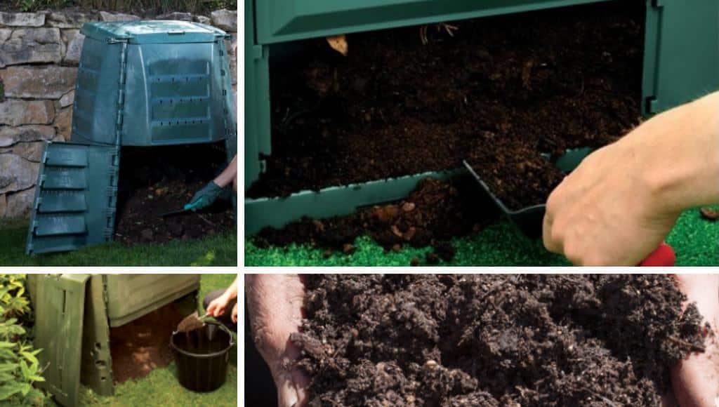 Entnahme von Kompost